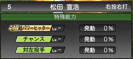 松田宣浩2020シリーズ1特殊能力評価