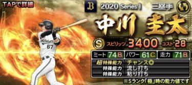 中川圭太2020シリーズ1のステータス評価