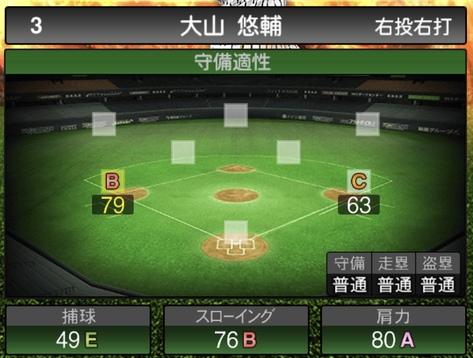 大山悠輔2020シリーズ1の守備評価