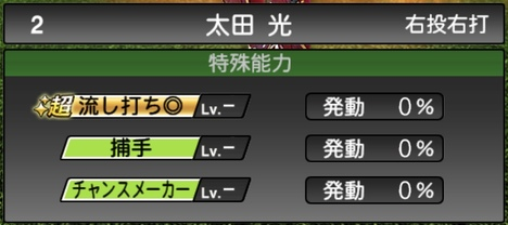 太田光2020シリーズ1特殊能力評価
