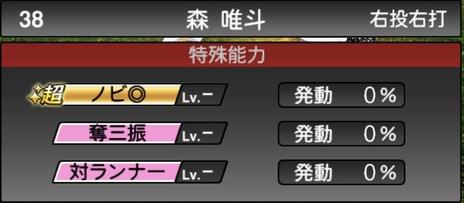 プロスピA森唯斗2020シリーズ1特殊能力評価