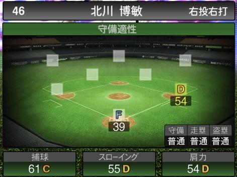 プロスピA北川博敏TS2020シリーズ1の守備評価