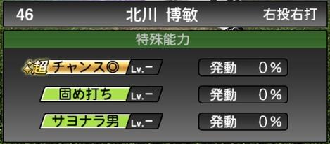プロスピA北川博敏TS2020シリーズ1特殊能力評価