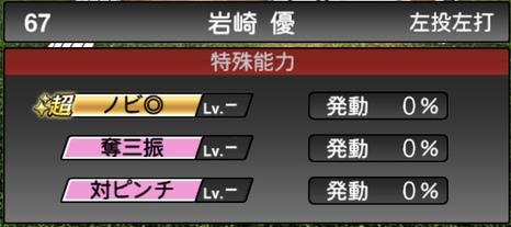 プロスピA岩崎優2020シリーズ1特殊能力評価