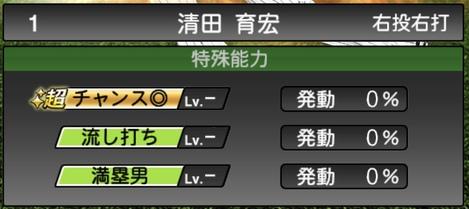 プロスピA清田育宏2020シリーズ1特殊能力評価