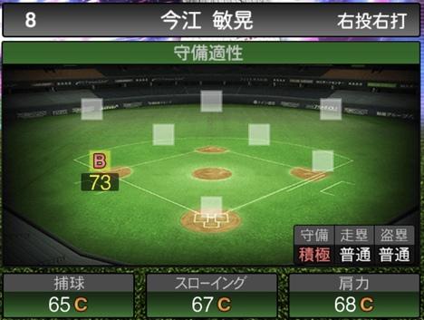 プロスピA今江敏晃TS2020シリーズ1の守備評価