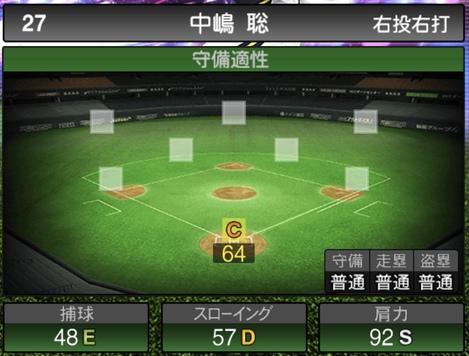 プロスピA中嶋聡TS2020シリーズ1の守備評価