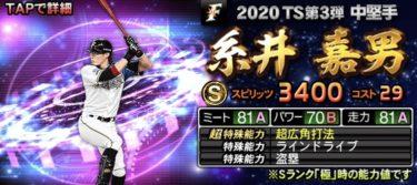 【プロスピA】TS 糸井嘉男 2020シリーズ1のステータス評価(タイムスリップ)