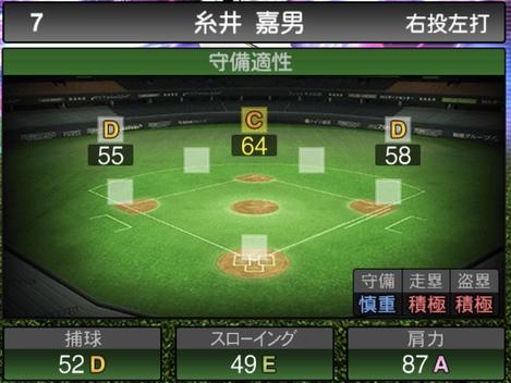 プロスピA糸井嘉男TS2020シリーズ1の守備評価