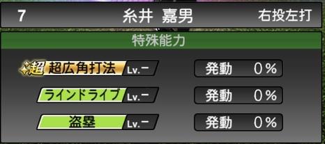 プロスピA糸井嘉男TS2020シリーズ1特殊能力評価