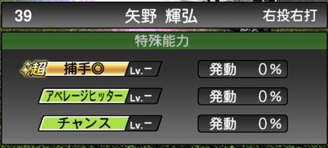 プロスピA矢野輝弘TS2020シリーズ1特殊能力評価