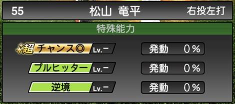 プロスピA松山竜平2020シリーズ1特殊能力評価