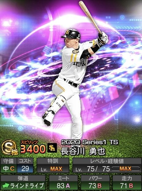 プロスピA長谷川勇也TS2020シリーズ1の評価
