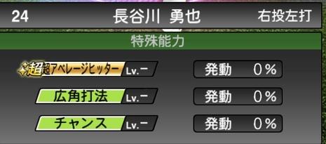 プロスピA長谷川勇也TS2020シリーズ1特殊能力評価