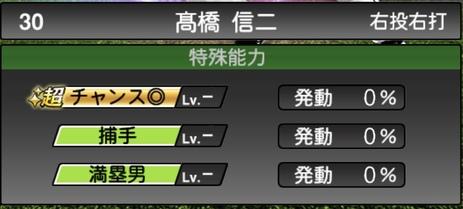 プロスピA髙橋信二TS2020シリーズ1特殊能力評価