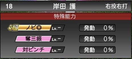 プロスピA岸田護TS2020シリーズ1特殊能力評価