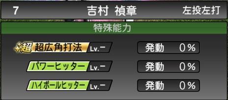 プロスピA吉村禎章TS2020シリーズ1特殊能力評価