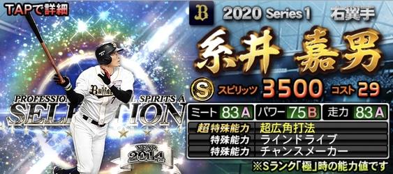 2020セレクション選手当たりランキング5位糸井嘉男