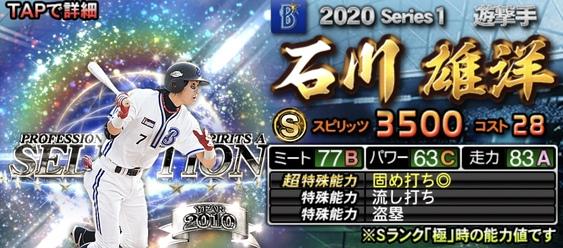 2020セレクション選手当たりランキング12位石川雄洋